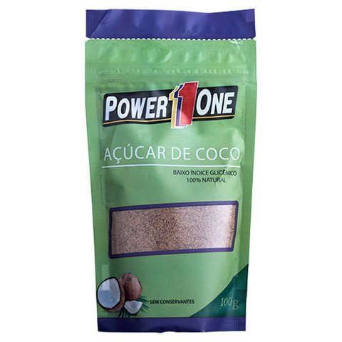 Refil com AÇÚCAR DE COCO 100G - POWER1ONE