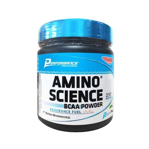 Pote de AMINO SCIENCE BCAA POWDER - PERFORMANCE NUTRITION