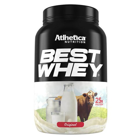 Pote com BEST WHEY 900G - ATLHETICA NUTRITION