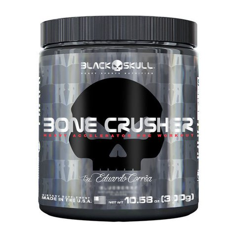 Pote com BONE CRUSHER 300G - BLACK SKULL