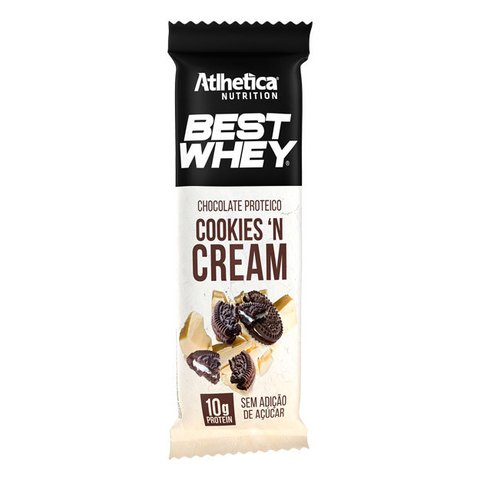 BEST WHEY CHOCOLATE PROTEICO 50G  COOKIES CREAM - ATLHETICA