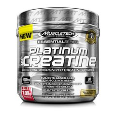 PLATINUM 100% CREATINE MICRONIZED 400G/100G - MUSCLETECH