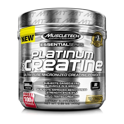 PLATINUM 100% CREATINA MICRONIZED 400G - MUSCLETECH