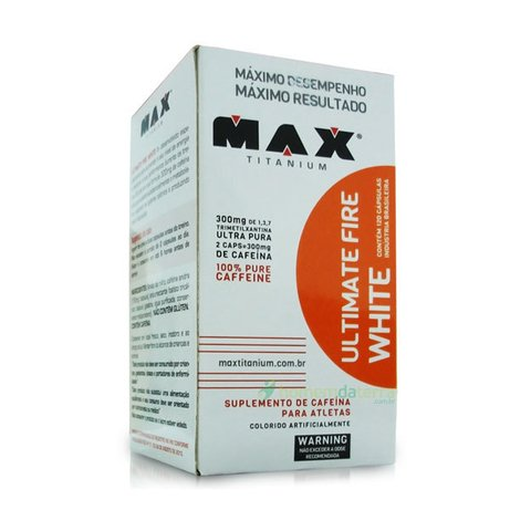 Pote com ULTIMATE FIRE WHITE 60(CAPS) - MAX TITAINIUM