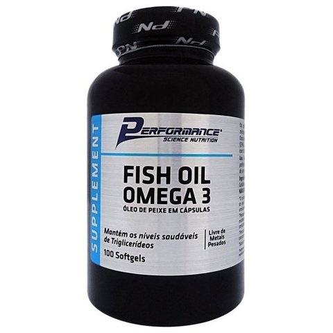 Pote de FISH OIL OMEGA 3 1000mg 100(CAPS) - PERFORMANCE