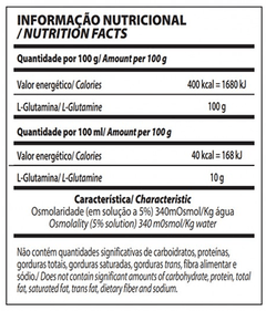 GLUTAMINE ISOLATES 300G - INTEGRALMEDICA