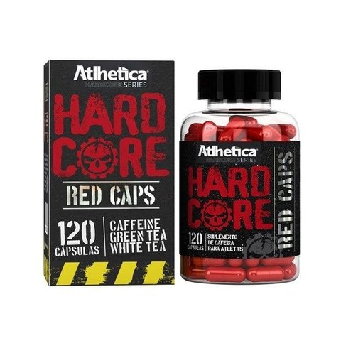 Pote de HARD CORE RED CAPS 120(CAPS) 210MG - ATLHETICA