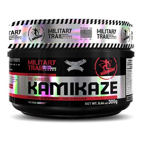 KAMIKAZE PRE-WORKOUT 300G MILITARY TRAIL - MIDWAY