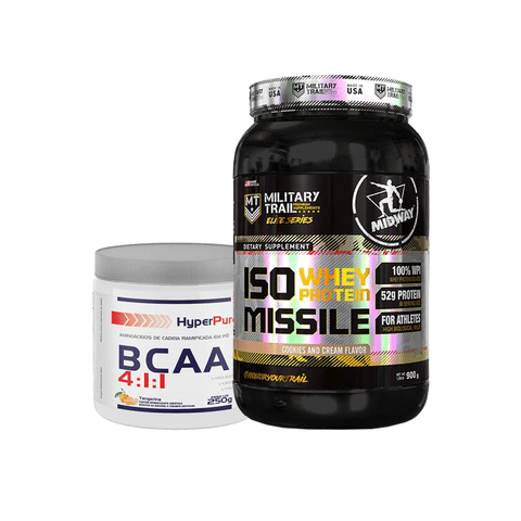 KIT ISO WHEY PROTEIN MISSILE 930G MILITARY TRAIL MIDWAY + BCAA 4:1:1 HYPERPURE 250G