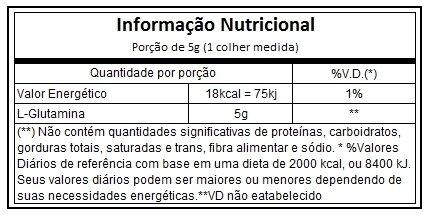Resultado de imagem para Glutamina 300g black skull tabela nutricional