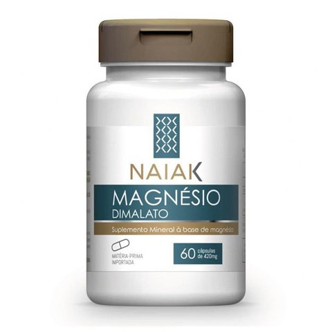 MAGNÉSIO DIMALATO 4020MG 420MG 60(CAPS) - NAIAK