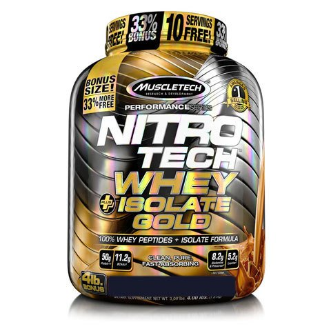 Pote com NITRO TECH 100% WHEY GOLD ISOLATE 1.81KG - MUSCLETECH