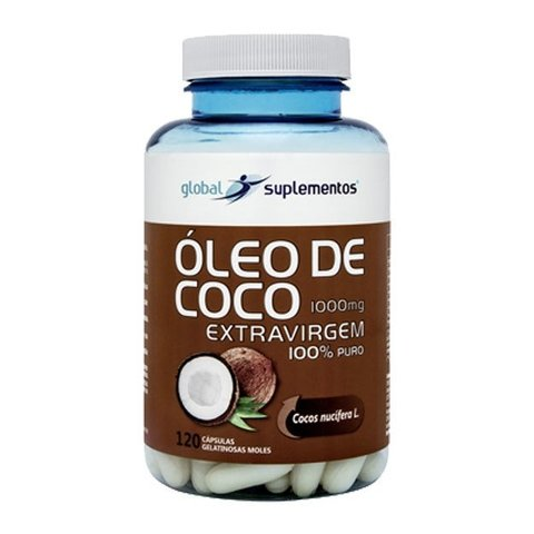 ÓLEO DE COCO 1000MG 120(CAPS) - GLOBAL SUPLEMENTOS
