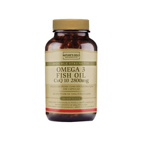 ÔMEGA 3 COM COENZIMA Q10 2800MG FISH OIL COQ10 180(SOFTGELS) - NATURE'S GOLD