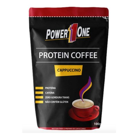 PROTEIN COFFEE CAPPUCCINO 100G - POWER ONE
