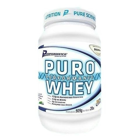 Pote com PURO PERFORMANCE WHEY 900G - PERFORMANCE NUTRITION