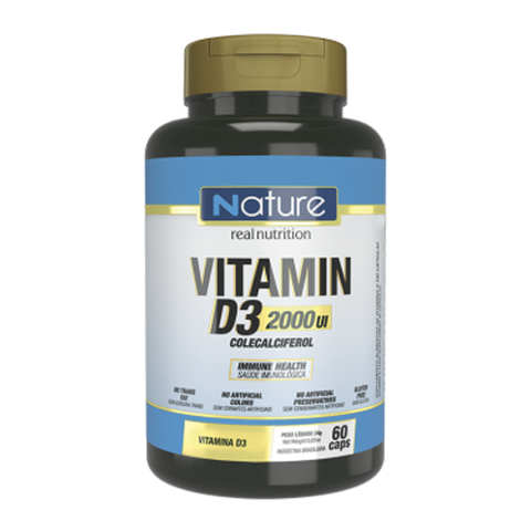 VITAMINA D3 2000 UI 60(CAPS) - NATURE REAL NUTRITION