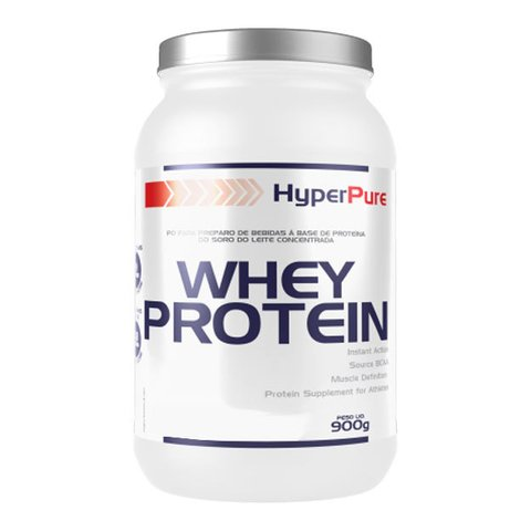 Pote com WHEY PROTEIN 900G - HYPERPURE