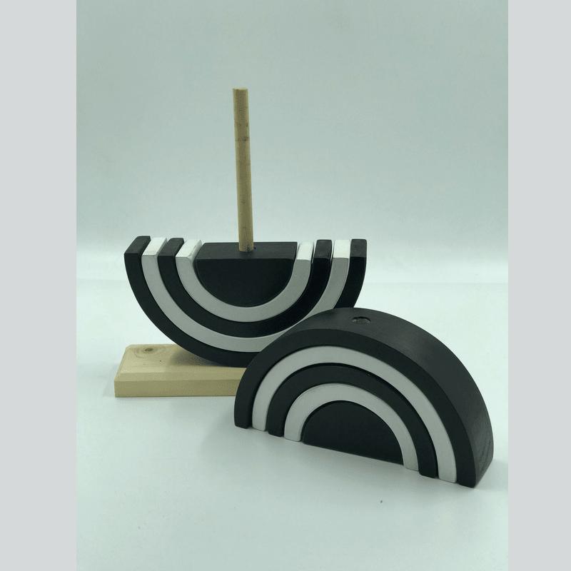 Arcoíris ensartado 10 Blanco y Negro