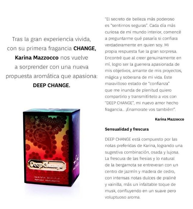 KARINA MAZZOCCO - DEEP CHANGE 30ml en internet