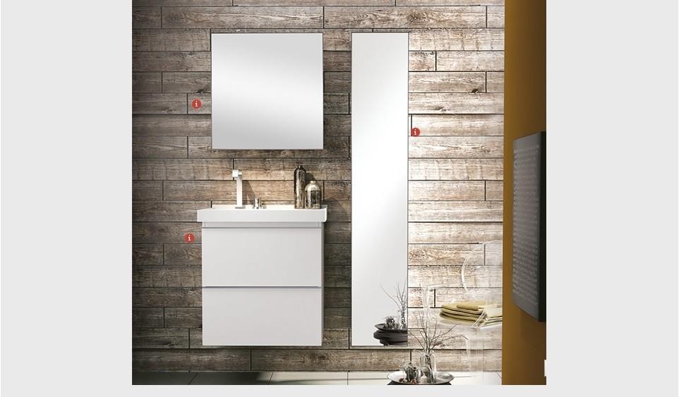 Armário Blu Espelhado branco ou grigio 30 cm Bumi -> Gabinete De Banheiro Bumi