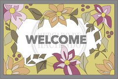 CARPET STAMPED CANVAS | WELCOME  MOTIF | SIZE 60X40 CM - buy online
