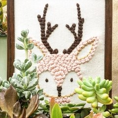 STAMPED CANVAS | DEER MOTIF | FORMAT 30X30 CM on internet