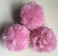 Pack x 3 Pompones grandes - Color Rosa