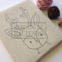Embroidery Kit for punch needle - Baby deer