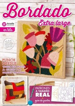 EXTRA LARGE 1 EMBROIDERY MAGAZINE FOR PUNCH NEEDLE / DECONEEDLE