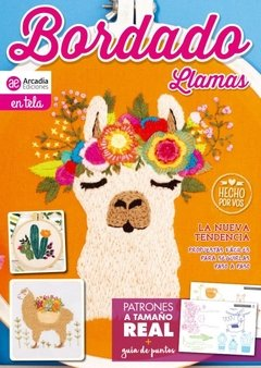 LLAMA EMBROIDERY MAGAZINE FOR MINI PUNCH NEEDLE