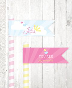 Bandeirinha para canudo - You are my Sunshine - comprar online