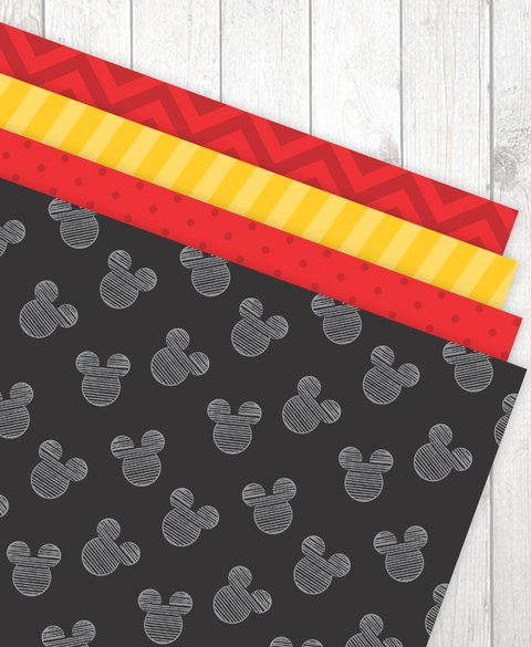 Estampas Mickey e Minnie