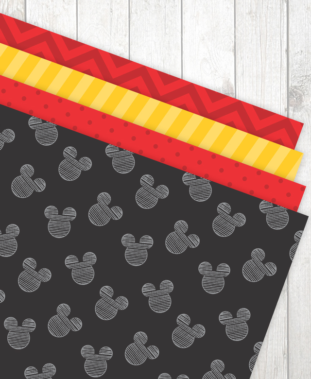 Imagem do Kit Digital para mesa - Festa Mickey
