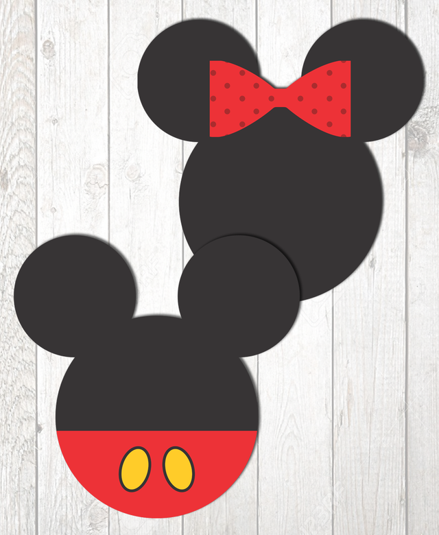 Kit Digital para mesa - Festa Mickey e Minnie - www.joyinthebox.com.br