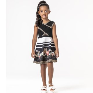 Vestido Black Animal Print Petit Cherie na internet