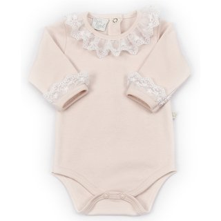 Body Gola de Renda ML Rosa Beth Bebê