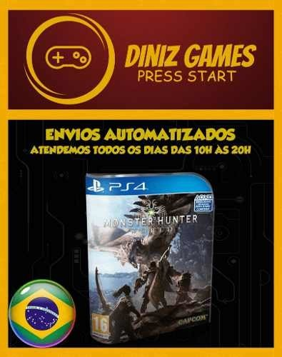 Monster Hunter World Ps4 Psn (aluguel 15 Dias Original 2)