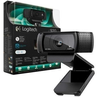 Webcam Logitech C920 Fullhd Ótima Para Youtube E Stream