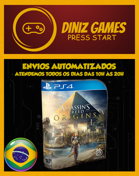 Assassins Creed Origins Psn Ps4 (vip Original 1)