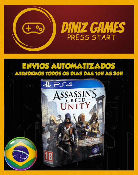 Ac Unity Psn Ps4 (vip Original 1)
