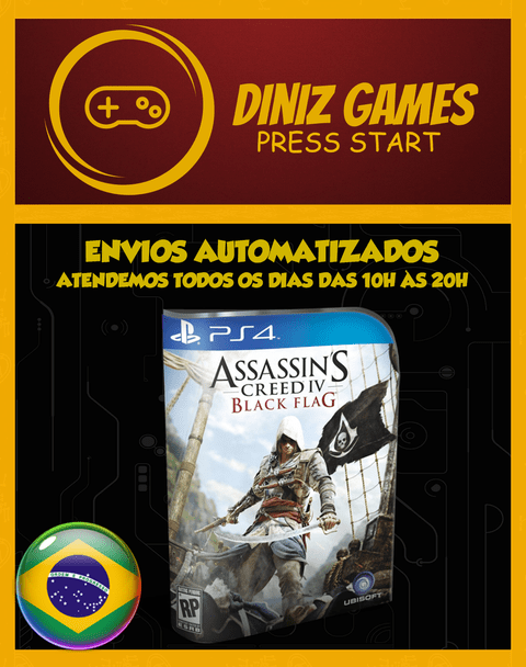 Assassins Creed 4 Psn Ps4 (aluguel 15 Dias Original 1)