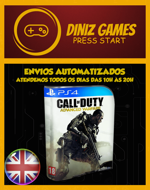 Cod Advanced Warfare Psn Ps4 (aluguel 15 Dias Original 2)