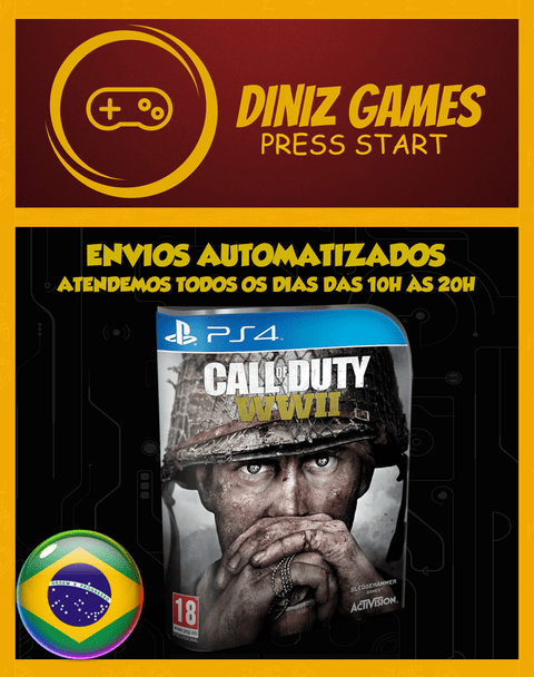 Call Of Duty Ww2 Psn Ps4 (aluguel 15 Dias Original 1)
