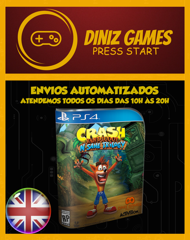 Crash Bandicoot N. Sane Trilogy (psn Ps4 Original 1)