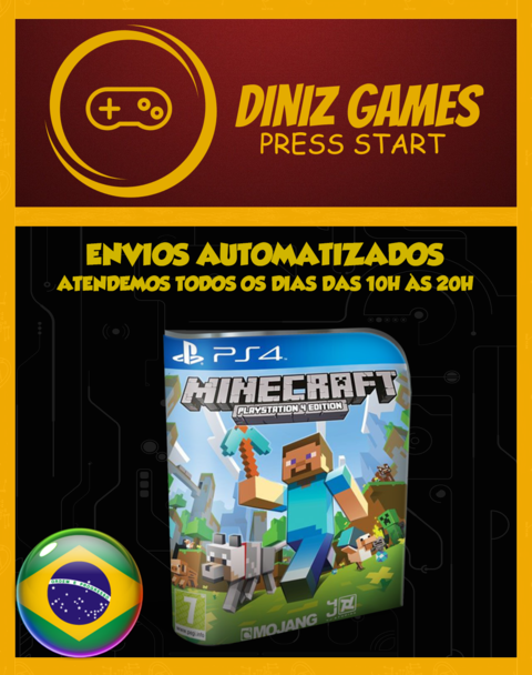 Minecraft Psn Ps4 (bronze Original 2)