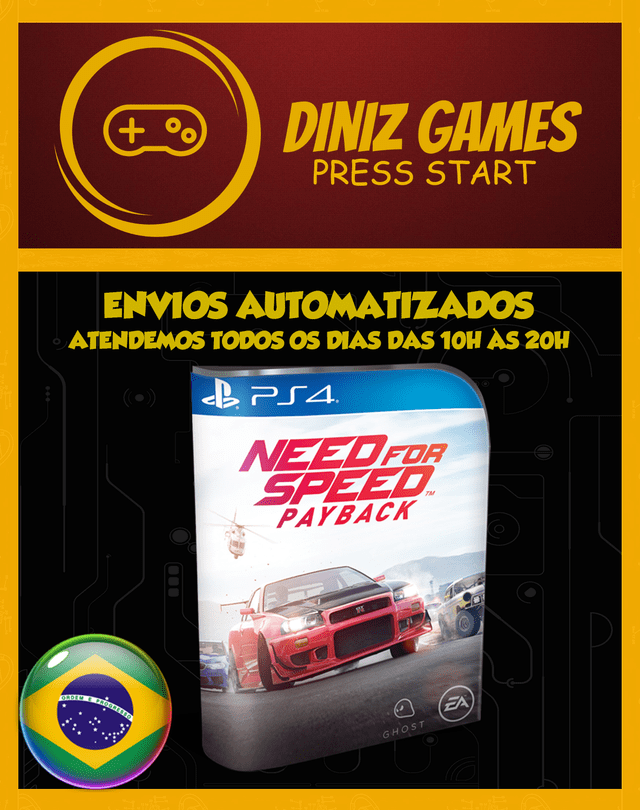 Need For Speed Payback Psn (aluguel 15 Dias Original 2)