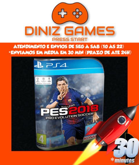 Pes 18 (ptbr) Ps4 Psn (vip Original 1)