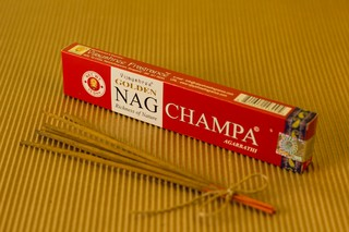 Golden Nag Champa Agarbathi - Incensos de Massala Indianos