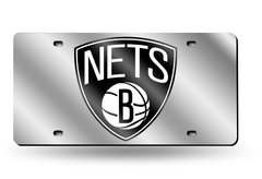 BROOKLYN NETS SILVER LASER TAG (PLACA ESPEJO)